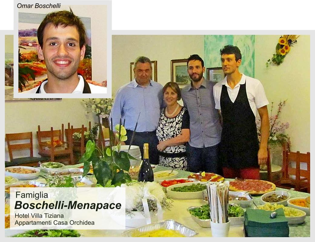 The Family Boschelli-Menapace manager of Apartaments Casa Orchidea in Torri del Benaco